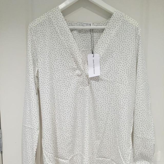 JDY Jacqueline De Yong Polka Dot Shirt BNWT