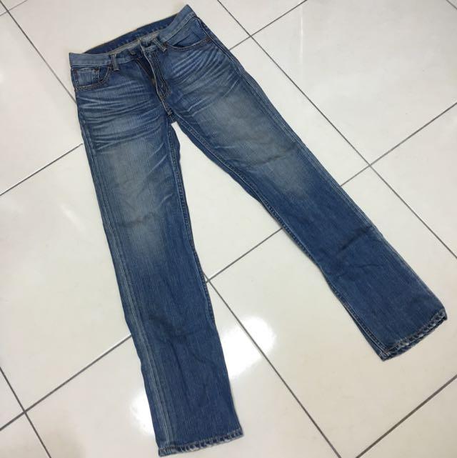 Levis 702 日本製水洗小直筒牛仔褲 W29