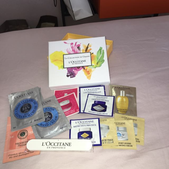 L,'OCCITANE En Provence Complete Travel Set, Include Complete Set For Face, Body, Hair, Nail Buffer, Including Box
