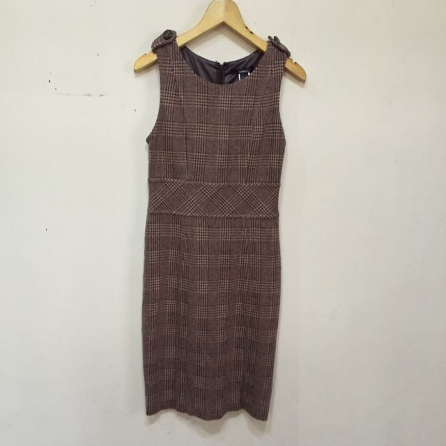 Mango - Mango Suit Preppy Wool Dress