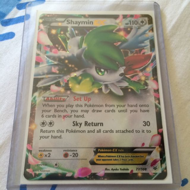 Pokemon Card Shaymin Ex Toys Games On Carousell