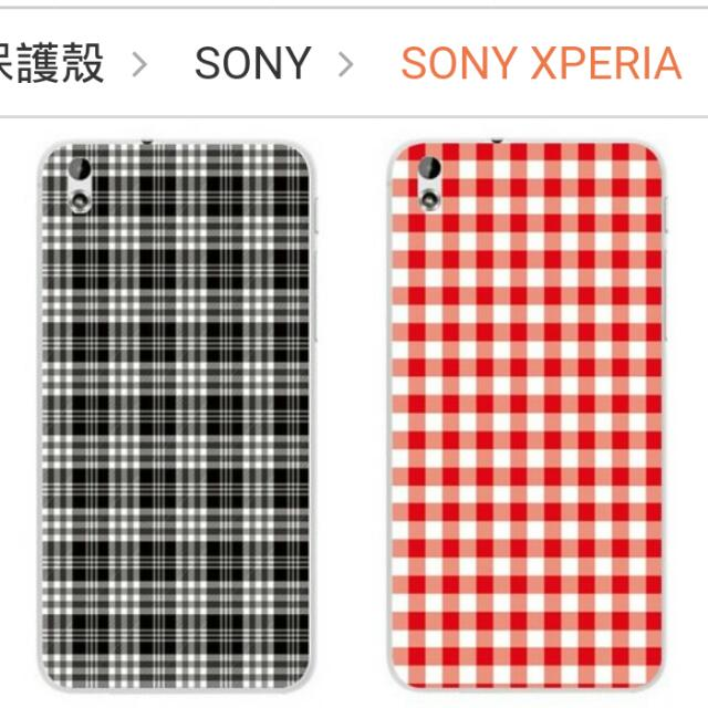 Sony XperiaZ5 經典格紋紅色手機殼 170含郵