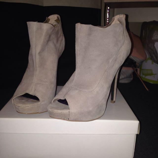 Steve Madden Peep Toe Ankle Boots