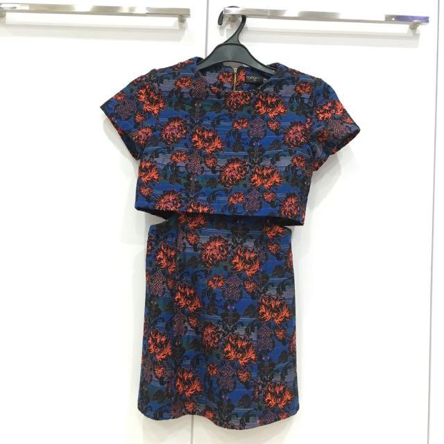 Topshop Flowery Print Dress