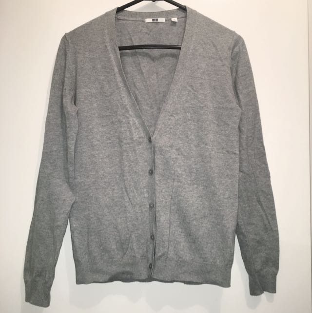 UNIQLO Grey V-Neck Cardigan