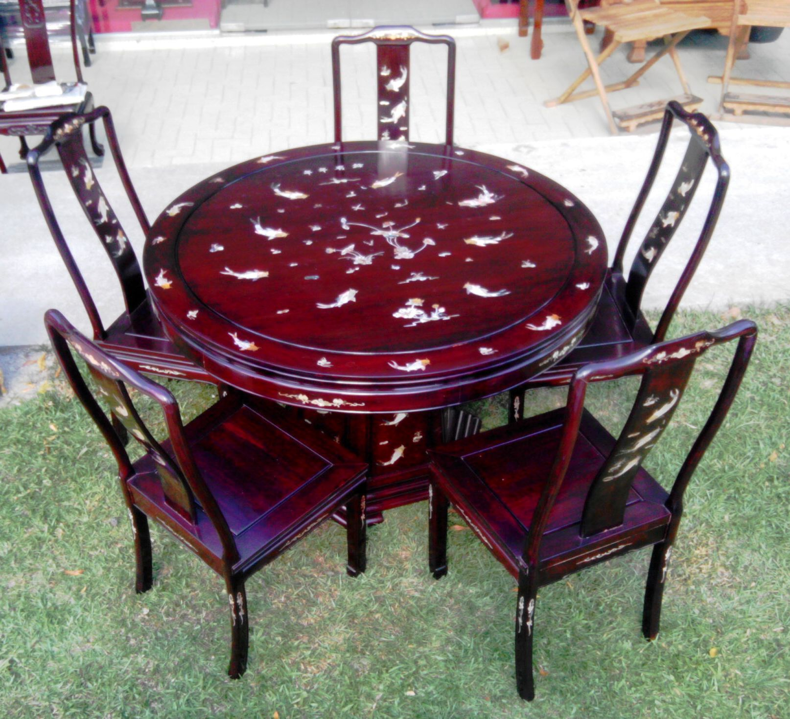 Used Rosewood Dining Set for Sale, Furniture on Carousell