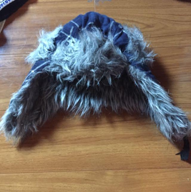 Warm Fluffy Blue Beanie