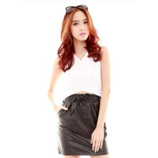 #IDoTrades Shopsassydream SSD Faux Leather Skirt