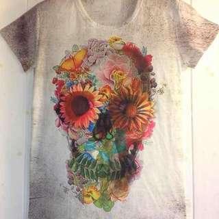 全新-圖案棉質T恤2件270$(皆可自由選擇)