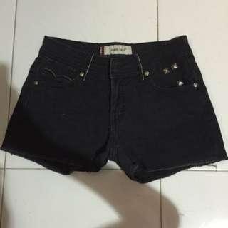 #PayDay30 Black Denim Shorts