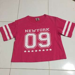 #PayDay30 Hot Pink New York 09 Crop Top