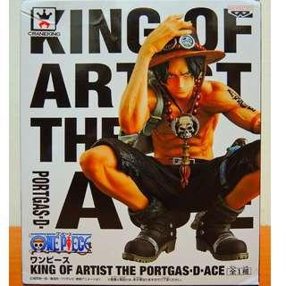 King Of Artist 艾斯公仔  日本帶回(有金證) 全新 未拆封