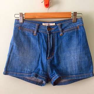 Wrangler High-waisted Denim Shorts