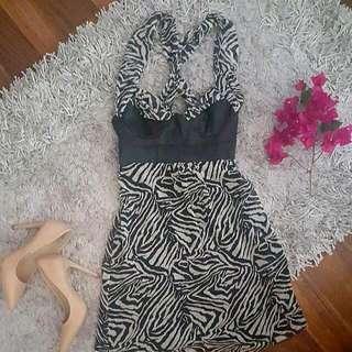 GUESS Jean's Zebra Print Dress |Size Xs
