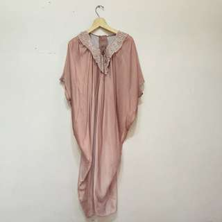 Gradient Kaftan - Chocolate - Beige