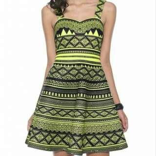 Love Bonito Aztec Prints Yellow Dress