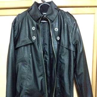 Black Leather Jacket 2XL