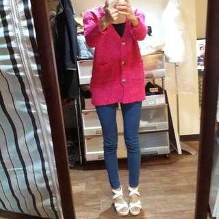 粉紅毛料小外套 (編號98)