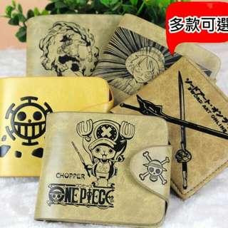 現貨!航海王 海賊王皮夾 錢包皮包 航海王 艾斯 喬巴 魯夫 羅 生日禮物