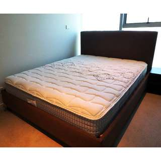 Sealy Posturepedic Queen Size Mattress with Bed Frame (Must Sell Off) - Cheap