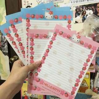 Kitty粉 藍信紙