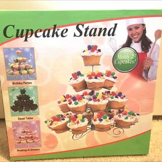 Cupcake Stand For Cup Cakes , Wedding , High Tea , Dessert , Cafe Display Metal Wire Silver