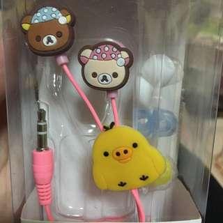 現貨耳機 大眼仔 瑪麗歐 海棉寶寶 杯麵 入耳式耳機 造型耳機