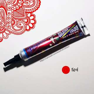 [AVAILABLE] Red Henna Tubes (Skin-Friendly)