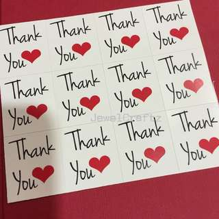 Diy Thank You Stickers