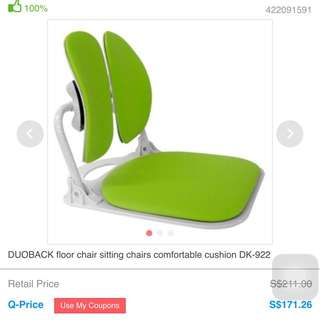 Pre loved Ergonomic Floor Chair Can Be Put On Bed Or Flat Surface