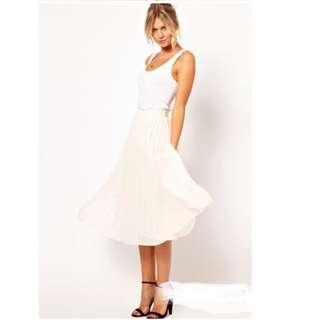 🆕 High Waist Chiffon Pleated Skirt (New) (Ready Stock)