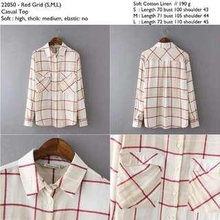 22050 Pastel Plaid Shirt