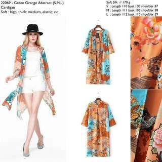 22069 Floral Midi Kimono