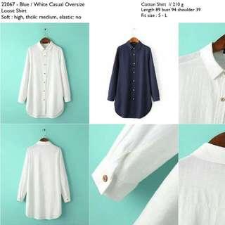 22067 Loose Boyfriend Tunic Shirt
