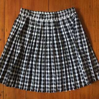 vintage pleated houndstooth skirt ✖️ size 12