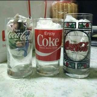 Set Of 3 Coca Cola Glasses