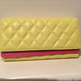 Brand new Yellow And Pink Purse / Wallet