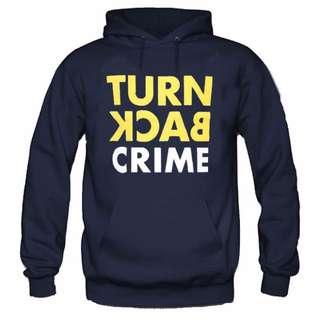 Hoodie Turn Back Crime Navy Blue
