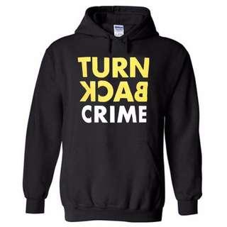 Hoodie Turn Back Crime - Hitam