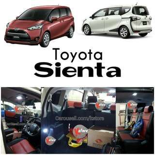 Toyota Sienta interior LED light replacements
