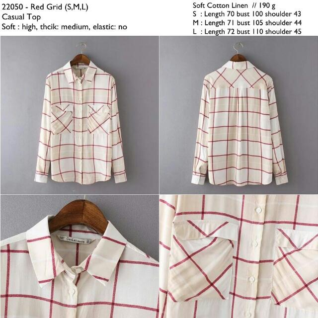 22050 Pastel Plaid Shirt