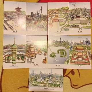 南京 明信片(親自選購帶回)