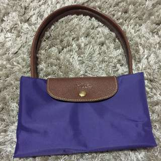 (Reserved) Preloved Authentic Large Purple Long Handle Longchamp Bag