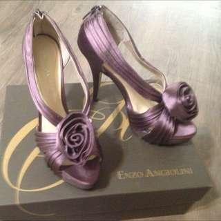 直購品 enzo angiolini (Nine West 代理副牌)、美麗的紫色高跟鞋6號半(約37號半)