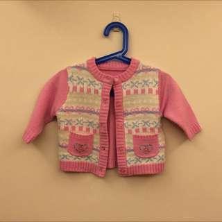 粉紅針織外套