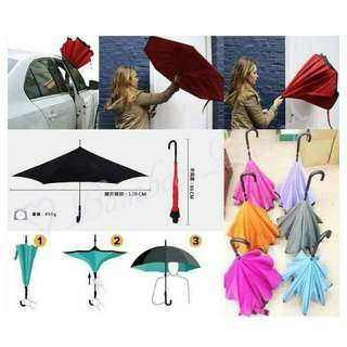 ☆預購--雙層防紫外線抗UV向上反折傘