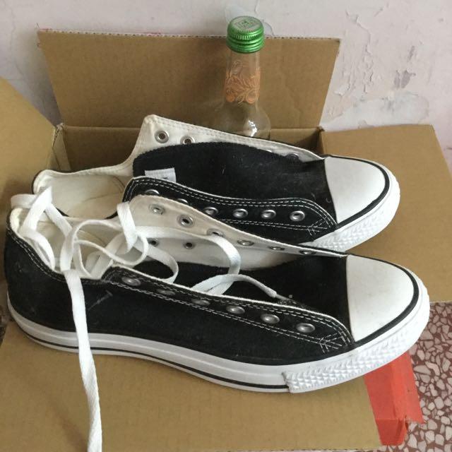 26.5cm黑色converse帆布鞋