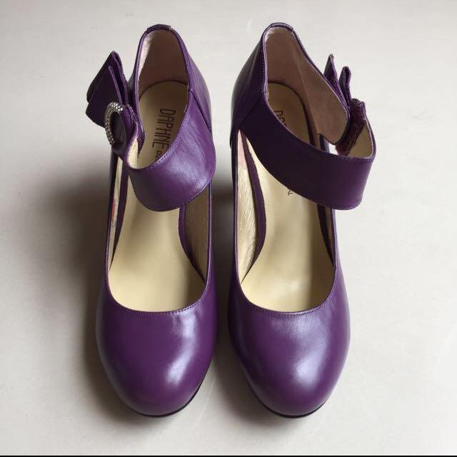 全新達芙妮真皮瑪麗珍鞋