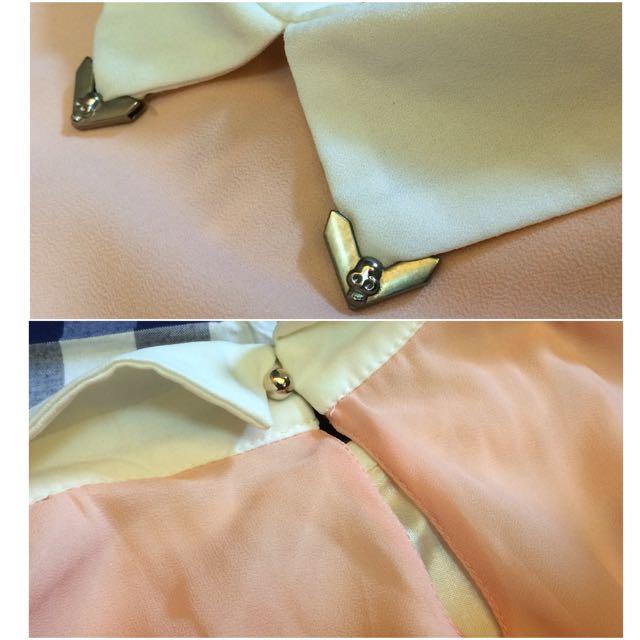 浪漫雪紡粉橘雙層裙擺削肩洋裝