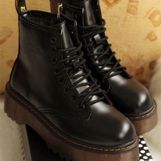 歐美時尚馬丁鞋厚底靴